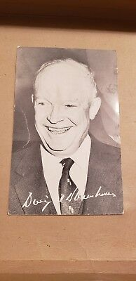 Original Dwight D Eisenhower Political Campaign Re-Election Card Republican