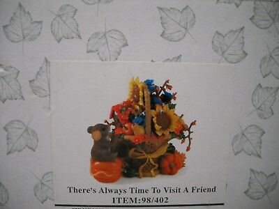 CHARMING TAILS There's Always Time To Visit A Friend Mouse Figurine NEW
