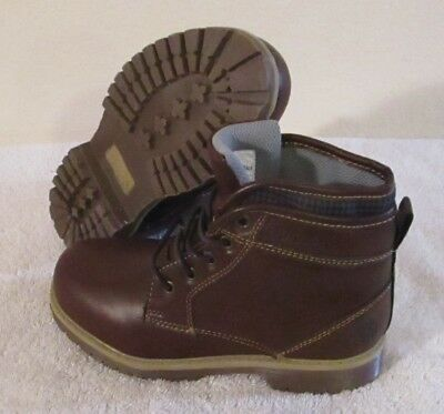 NWT US Polo Assn Branch Boys Faux Leather Hiking Boots 1 Brown MSRP$50