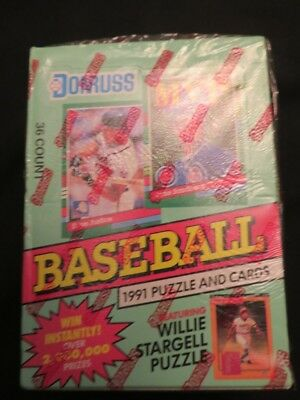 1991 Donruss Baseball Puzzle and Cards Series 2 torn Factory Seal (but unopened)