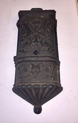 Antique 1889 Cast Iron Mail Box Ornate The Henry C Hart Mfg Co Detroit Mich