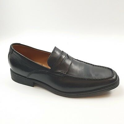 faaa6849085 Clarks Tilden Way Mens Loafer Shoes Soft Cushion Formal Black Size 9 43 Fit  G