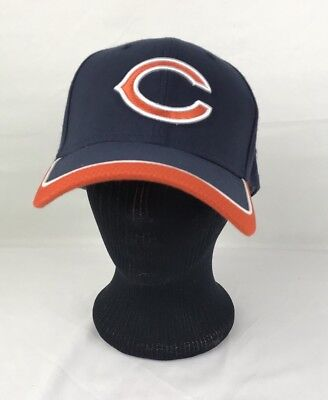 cheap for discount 7bf53 df248 Chicago Bears Men s NFL GSH New Era 39 THIRTY Navy Orange Hat New sz Large