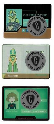 Cryptozoic Rick and Morty Trading Cards Season 2 Convention Exclusive Metal Set