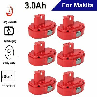 6x 14.4 V 3000mAH BATTERY for MAKITA Cordless Drill 1420 1422 193985-8 NEW