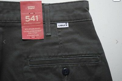 3ab09e4c Men's Levi's 541 ATHLETIC FIT Chino Stretch gray jeans pants with tags
