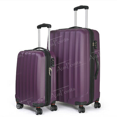 2pc Luggage Suitcase Trolley Set TSA Travel Carry On Bag Hard Case