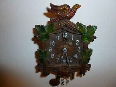 Lux Keebler Cuckoo Clock 1930's Nice Condition Works Great!