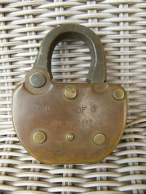 Union Pacific Union Stockyards Of Omaha Later Brass Lock Double Stamped