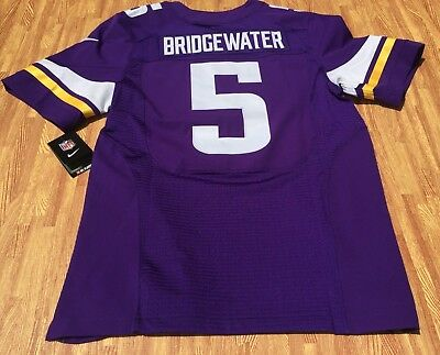 0b01458df Nike Minnesota Vikings Teddy Bridgewater  5 Football Elite Jersey SZ 44 NWT   295