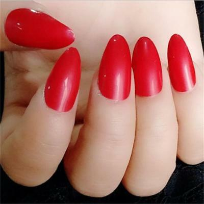 New Artificial Sharp Nail Art Full Cover False Fake Nails Tip Useful Y