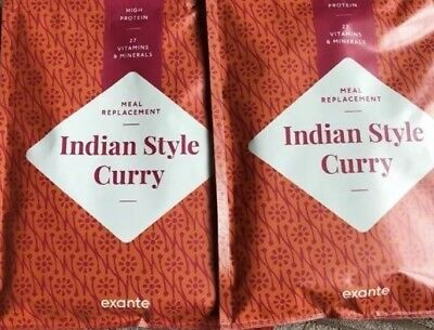 8 X Exante Diet Indian Style Curry Meal Replacement VLCD & Indian Daal Pot