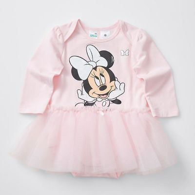 NEW Disney Baby Minnie Mouse Long Sleeve Frill Dress