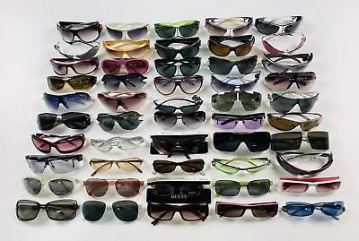 Lot Of 50 Pairs Of Vintage Sunglasses Lunette Made In Italy New Old Stock