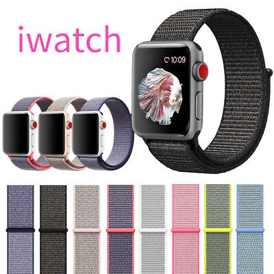 Nylon Watch Band Woven Sport Loop Bracelet Strap For Apple iWatch Series 4 3 2 1