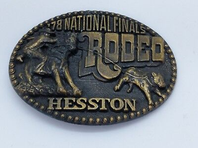 Vintage Hesston National Finals Rodeo 1978 4th Edition Belt Buckle