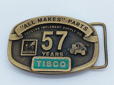 TISCO Tractor Implement Supply Co. 57 Years Belt Buckle Limited Ed 1937-1994