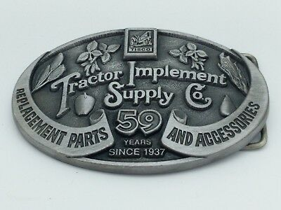 TISCO Tractor Implement Supply Co. 59 Years Belt Buckle Limited Ed 1937-1996