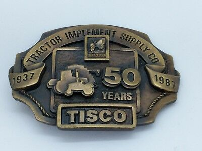TISCO Tractor Implement Supply Co. 50 Years 1937 1987 Belt Buckle Limited Ed