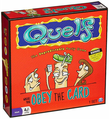 Quelf Board Game Adults Home Party Playing Game Funny Adults Party Spin Game Set