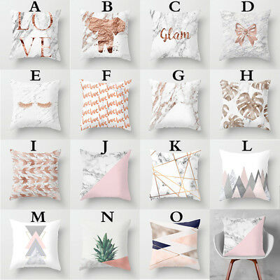 Soft Comfortable Cushion Cover Bed Pillowcase Home Decor Salable Marble Style