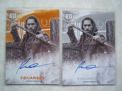 Eduardo  2018 Topps Walking Dead Hunters And Hunted Lot 2 Auto,s Ser#73/99 1 Com
