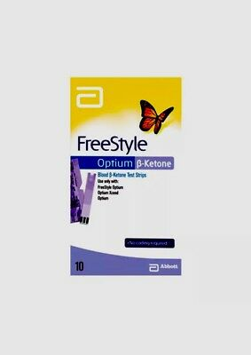 Special Abbott Freestyle Optium Ketone Test 1 PACK 10 STRIPS PRECISION