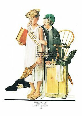 """/""""THE GIRLS BACK HOME/"""" or /""""THE CONFRONTATION/"""" 11/"""" x 15/"""" Norman Rockwell print"""