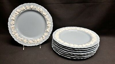 Wedgwood Queensware Cream Color on Lavender Shell Edge Set of 8 Dinner Plates