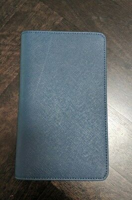 The Daily Edited TDE leather form guide book racing book cover TABCORP navy blue