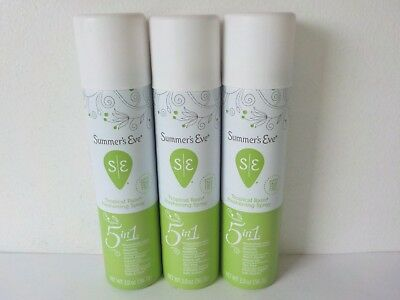 Pack of 3 Summer's Eve! Baby Powder 2oz Feminine Deodorant Spray