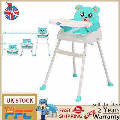 Baby Highchair 4 IN 1 Infant Feeding Toddler Table Chairs Height Adjustable