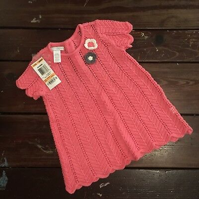 NWT Pink First Impressions Knot Top 12M.