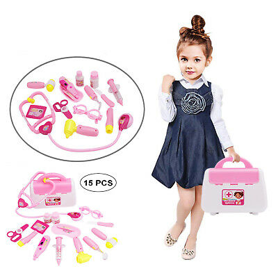 15PCS Kids Doctors Set Medical Doctor Playset for Children Toddler Toy Role Play