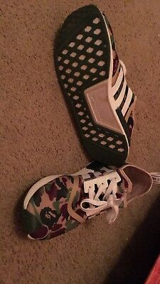 ec37aabf7440a AUTHENTIC ADIDAS NMD R1 Bape Camo Green Size US 11.5 -  200.00 ...