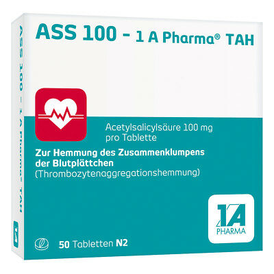 ASS 100-1A Pharma TAH 50stk PZN 06312060