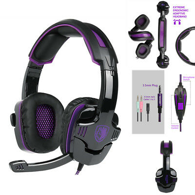 SADES SA930 Gaming Headset Surround Stereo Headphones w/Mic for PS4 PC Xbox Y5L5