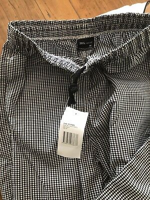 Chef Pants Black And White Size Med