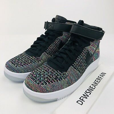 dffff0a96ab5 Nike Air Force 1 Ultra Flyknit Mid Multi Color 817420-601 Men s 9.5 New  Shoes