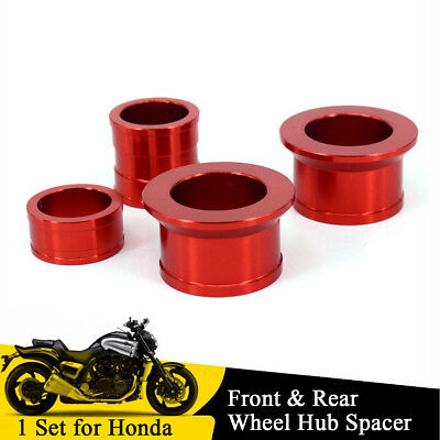 Red CNC Motorcycle Front Rear Wheel Hub Spacer For Honda CR125R CR250R CRF250X