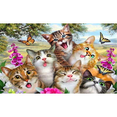 5D DIY Diamond Painting Cats friends Embroidery mosaic Cross Stitch Home DecorCN