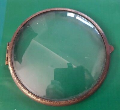 Vintage Clock Brass Bezel & Glass