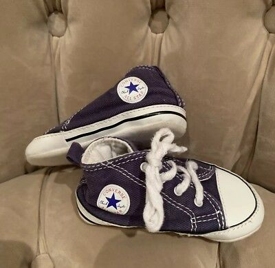 Converse Boys Girls Blue Pre Walking Crib Trainers Shoes Uk 4 Us 4 Eu 20 12Cm