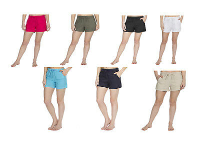 Ladies Women's Summer Holiday Linen Shorts/Hot Pants with Pockets. Size 10-22