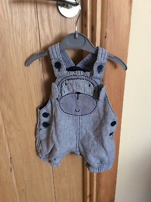 Baby Boys Navy Blue With Cartoon Monkey Design Romper Suit Up To 1 Month Next