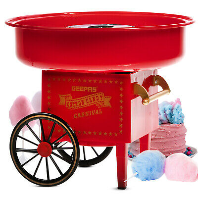 Geepas Candy Floss Machine Flavored Sweet Sugar Cotton Wool Home Party Maker