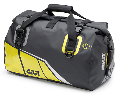 Givi EA115BY 40ltr Waterproof Motorcycle Roll Bag tail bag holdall Grey / Yellow