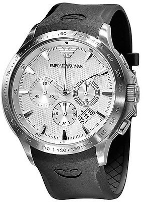 ** NEW **Emporio Armani® watch AR0634 , Silver , mens CHRONOGRAPH