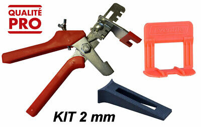 KIT CROISILLONS AUTO NIVELANT 500 clips 2 mm + 250 cales + 1 pince