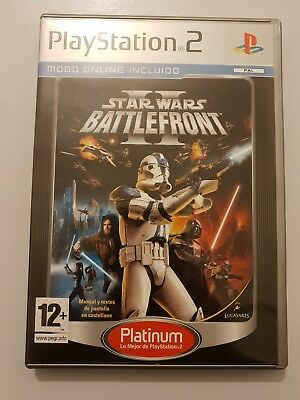 Star Wars BATTLEFRONT II PlayStation 2 (Ps2) Platinum Pal ESPAÑA COMPLETO